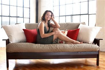 "Futon/Mattress Covers up to 6"" thick-WLH B 100% Organic Cotton Twill Fabric"