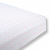 Flannel Fitted Crib Sheet Mod Circles on White