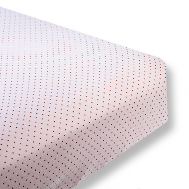 Flannel Fitted Crib Sheet  Brown Polka Dots