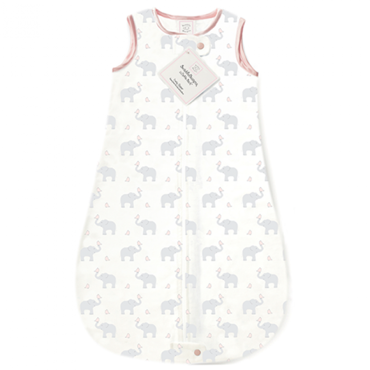 zzZipMe Sack Cotton Elephant & Chickies