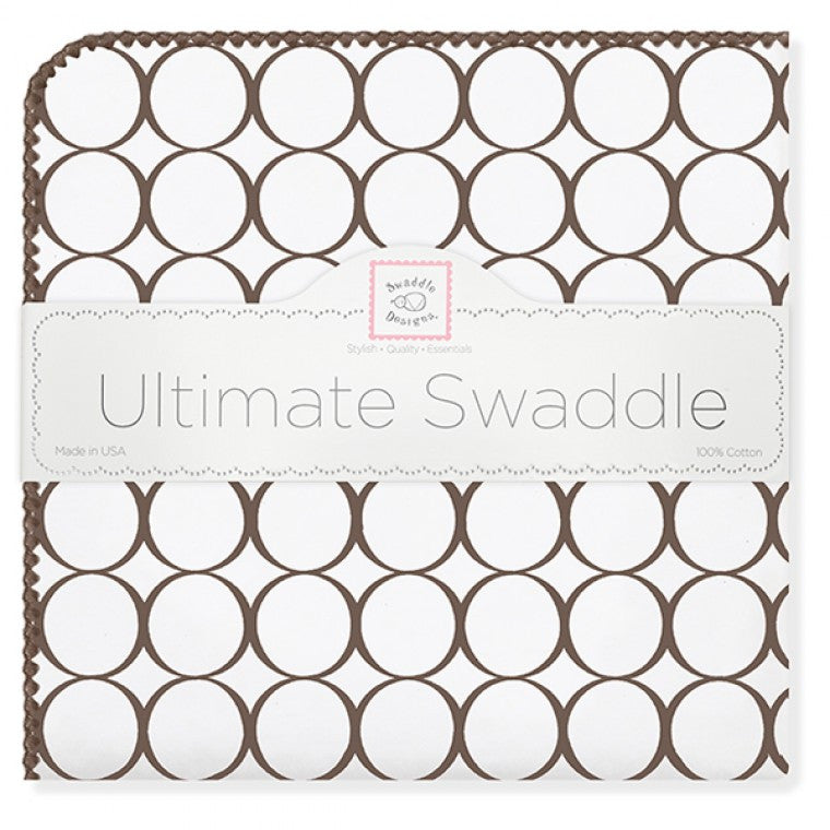 Ultimate Swaddle Mod Circles on White