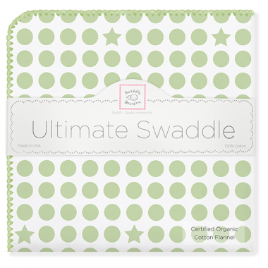 Organic Ultimate Swaddle  Dots & Stars, Hearts