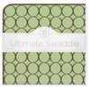 Ultimate Swaddle Brown Mod Circles