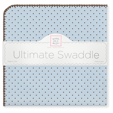 Ultimate Swaddle Brown Polka Dots