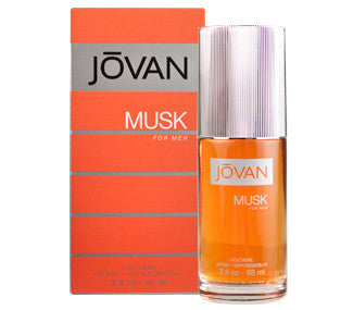 JOVAN MUSK COLOGNE FOR MEN  COLOGNE SPRAY 3 Oz
