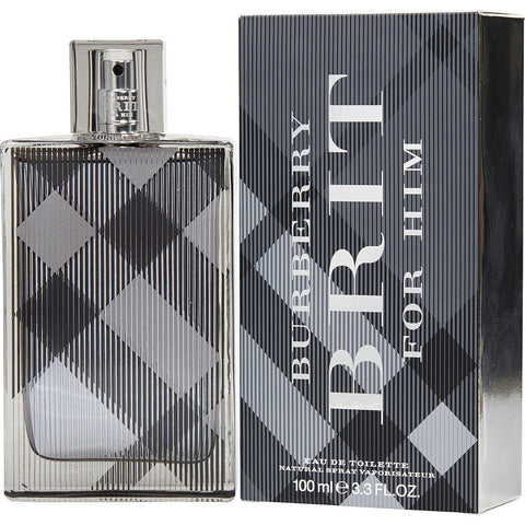 Burberry Brit Men Eau De Toilette Spray 3.3 OZ