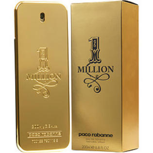 1 MILLION COLOGNE BY PACO RABANNE EAU DE TOILLET 6.8 OZ SPRAY FOR MEN