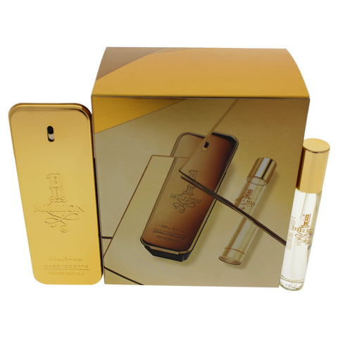 1 Million Paco Rabanne 2 Pc. Gift Set For Men | Edt 0.68 Oz + Edt 3.4 Oz for Men by Paco Rabanne