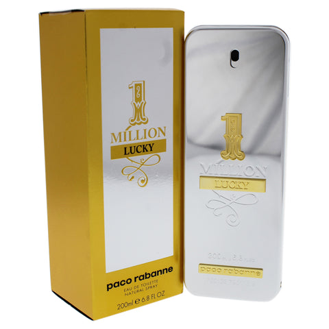 1 Million Lucky by Paco Rabanne 6.8 oz Eau De Toilette Spray for Men