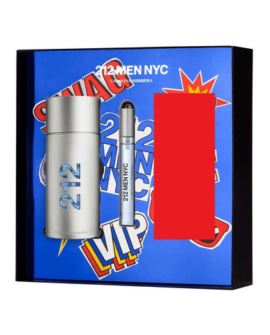 212 Cologne by Carolina Herrera, 3.4 oz EDT Spray for Men GIFT SET