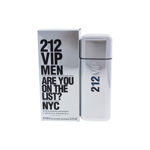 212 Vip Men by Carolina Herrera Eau de Toilette 3.4 Oz Spray For Men
