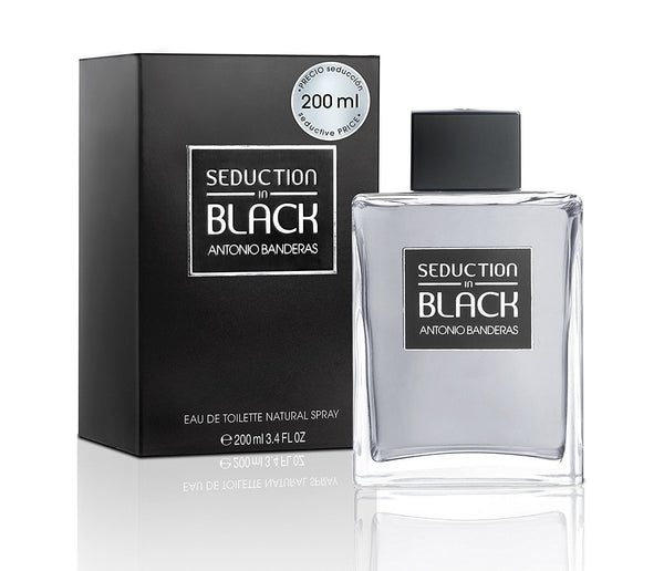 Seduction In Black for Men Eau De Toilette Spray, 6.8 Ounce