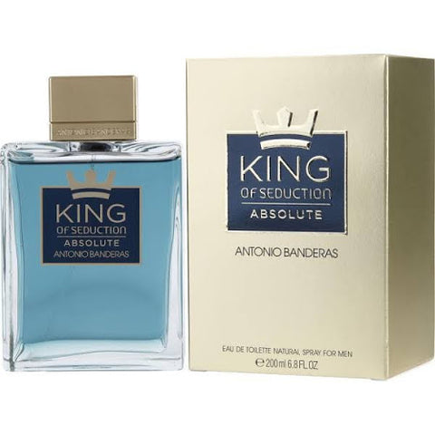 Antonio Banderas King of Seduction Absolute for Men Eau de Toilette Natural Spray, 3.4 fl oz