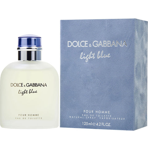 "Dolce & Gabbana ""Light Blue"" Pour Homme by Dolce Gabbana Eau de Toilette 4.2 Oz Spray For Men"