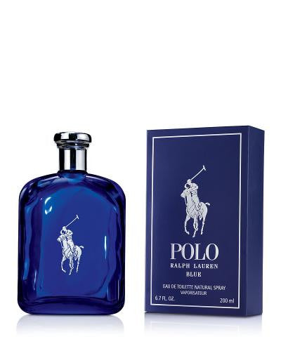 Polo Blue By Ralph Lauren Eau De Toilette 6.7 Oz Spray For Men