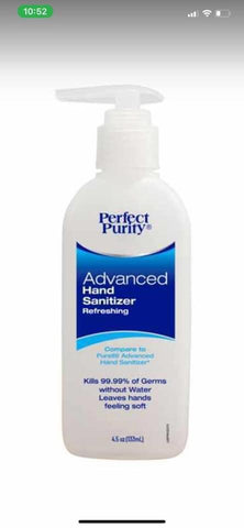 Perfect Purity Advanced Hand Sanitizer Refreshing 4.5 Oz Kill Germs 99.9%