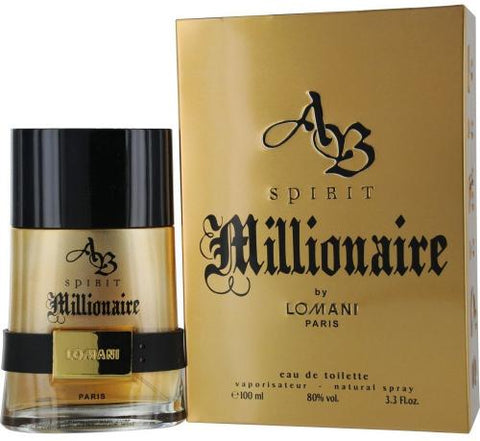 Spirit Millionaire by Lomani Eau de Toilette 3.3 Oz Spray For Men