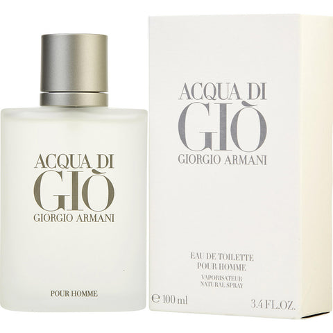 Acqua Di Gio by Giorgio Armani Eau de Toilette 3.4 Oz Spray For Men