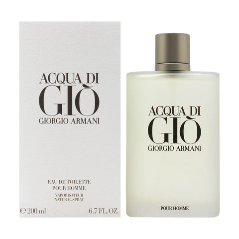Acqua Di Gio by Giorgio Armani Eau de Toilette 6.7 Oz Spray For Men