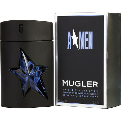 Angel by Thierry Mugler Eau de Toilette 3.4 Oz Refillable Rubber Spray For Men