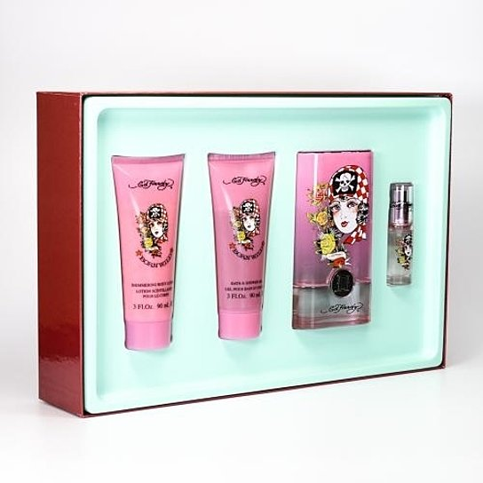 Born Wild Gift Set for Women by Christian Audigier 3.4 Oz Spray