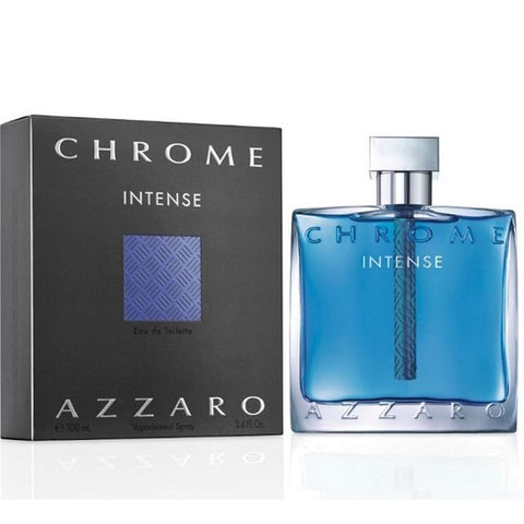 Chrome Intense By Azzaro Eau De Toilette 3.4 Oz spray For Men