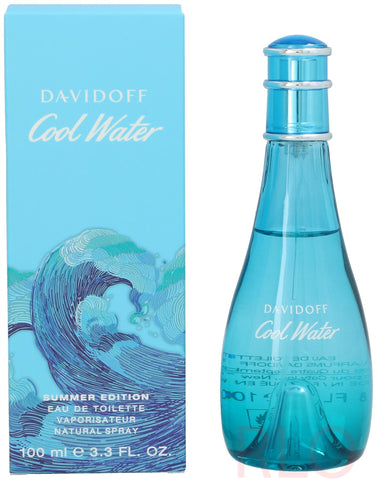 Davidoff Cool Water Woman Eau de Toilette 100ml Women Spray Summer Edition