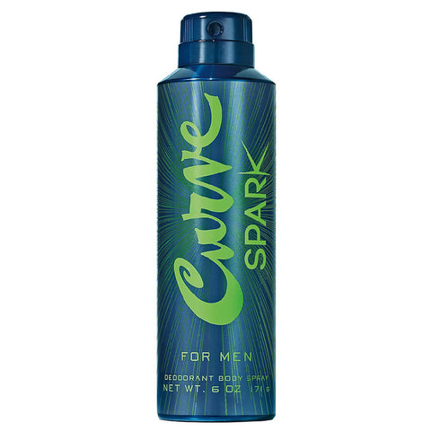 Curve Spark 6.0 Oz Deodorant Body Spray For Men