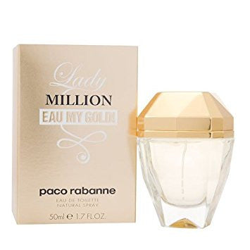 Lady Million Eau My Gold Perfume for Women 1.7 oz Eau De Toilette Spray