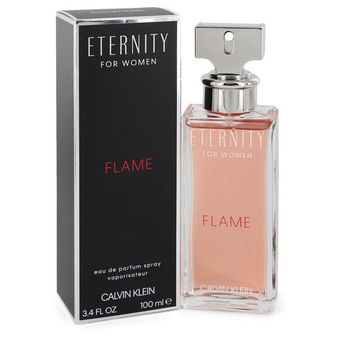 Eternity Flame by Calvin Klein Eau De Parfum 3.4 Oz Spray For Women