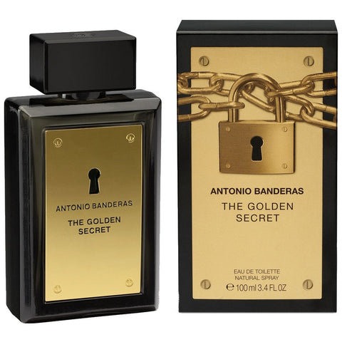 The Golden Secret by Antonio Banderas Eau De Toilette 3.4 Oz Spray For Men