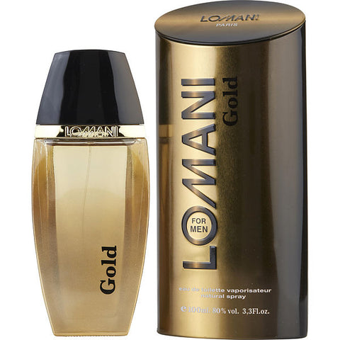 Lomani Gold by Lomani Eau de Toilette 3.3 Oz Spray For Men