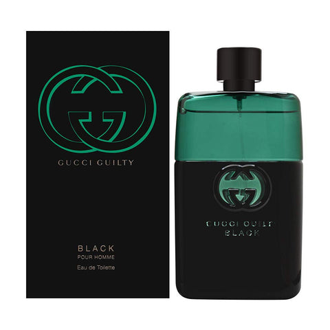 "Gucci Guilty ""Black"" by Gucci Pour Homme Eau de Toilette 1.6 Oz Spray For Men"