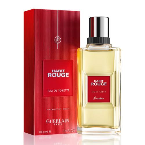 Habit Rouge By Guerlain Eau De Toilette 3.4 Oz spray For Men