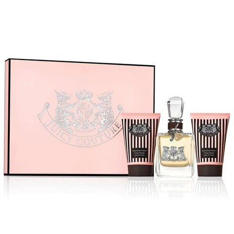 Juicy Couture by Juicy Couture Eau de Parfum 3.4 Oz Spray 3 Piece Gift Set For Women