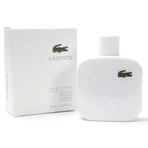 Lacoste L12.12 White Blanc Cologne by Lacoste 3.3 oz Eau De Toilette Spray for Men