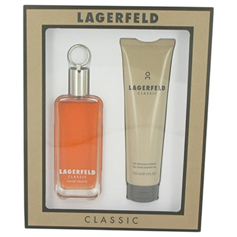 Lagerfeld by Karl Lagerfeld Eau de Toilette 5.0 Oz 2 Piece Gift Set For Men