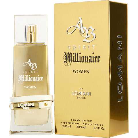 AB Spirit Millionaire by Lomani Eau de Parfum 3.3 Oz Spray For Women