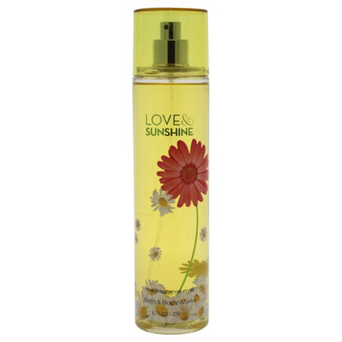 Love and Sunshine By Bath & Body Works Fine Fragrance Mist For Women 8 oz