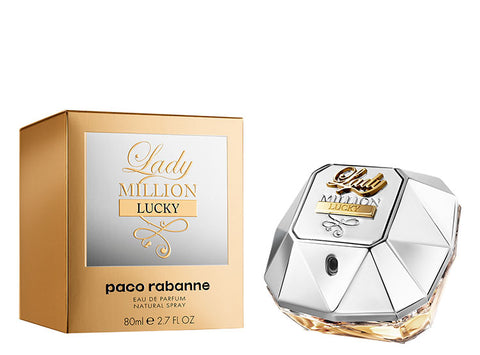 Lady Million Lucky by Paco Rabanne 2.7 Oz Spray For Women