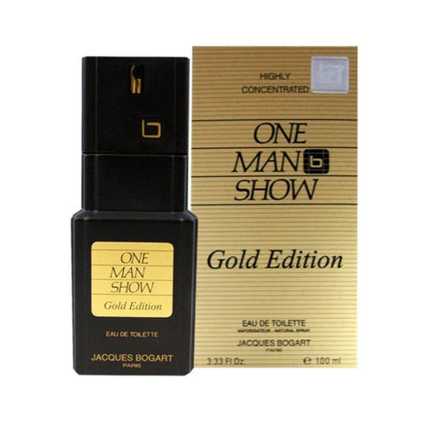 One Man Show Gold by Jacques Bogart Eau de Toilette 3.3 Spray For Men