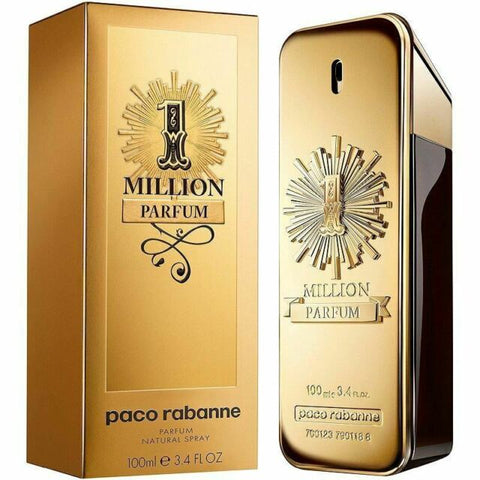 1 Million Parfum by Paco Rabanne Eau de Parfum 3.4 Oz Spray For Men