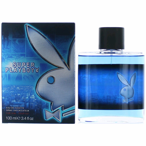 Playboy Super Playboy by Coty, 3.4 oz Eau De Toilette Spray for Men