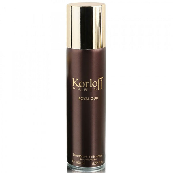 Korloff Paris Royal Oud Deodorant Body Spray 5.07 Oz Unisex