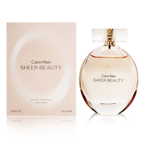 Sheer Beauty by Calvin Klein Eau de Toilette 3.4 Oz Spray For Women