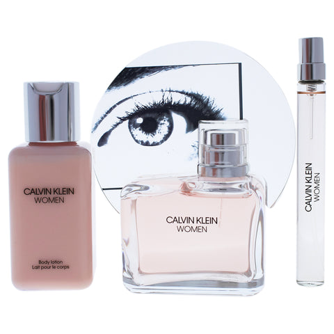 Women By Calvin Klein Perfume Gift Set for Women, 3 Pieces