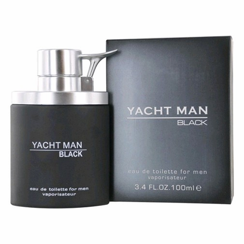 Yacht Man Black by Myrurgia, 3.4 oz Eau De Toilette Spray for men