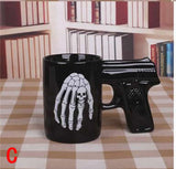Creative High Quality Skull/ Pistol Mug - Cool Stuff