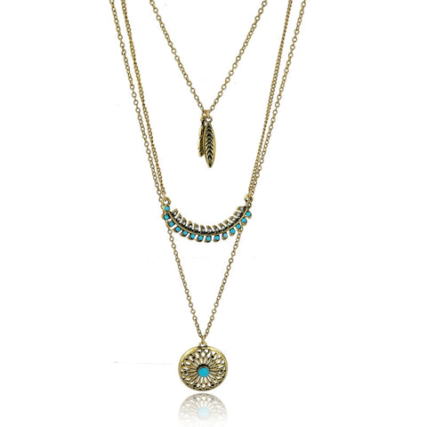 Long Bohemian Gold Beads Necklaces & Pendants for Women - Cool Stuff