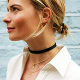 Vintage Retro Black Velvet Choker Necklace - Cool Stuff